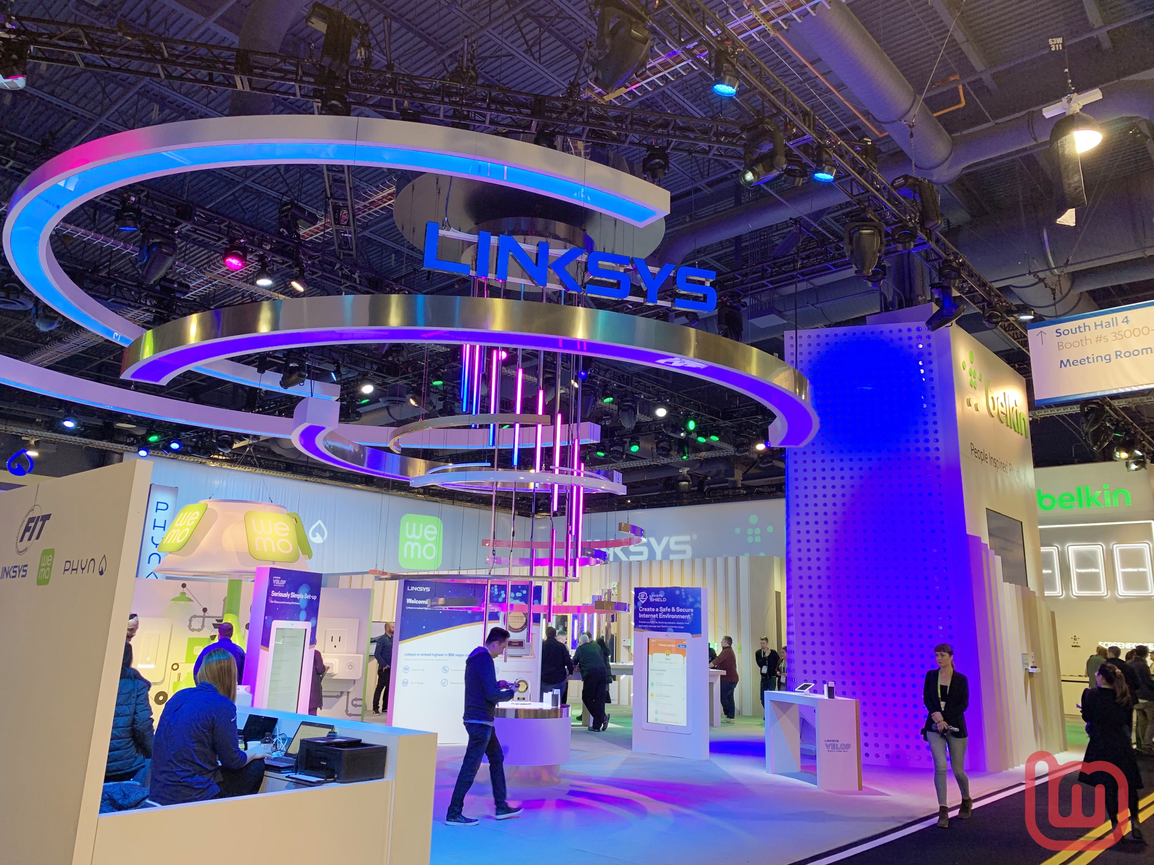 【CES 2019】ベルキン、「USB-C to Lightningケーブル」や同社のブランドLinksys、Wemoなどの製品を展示