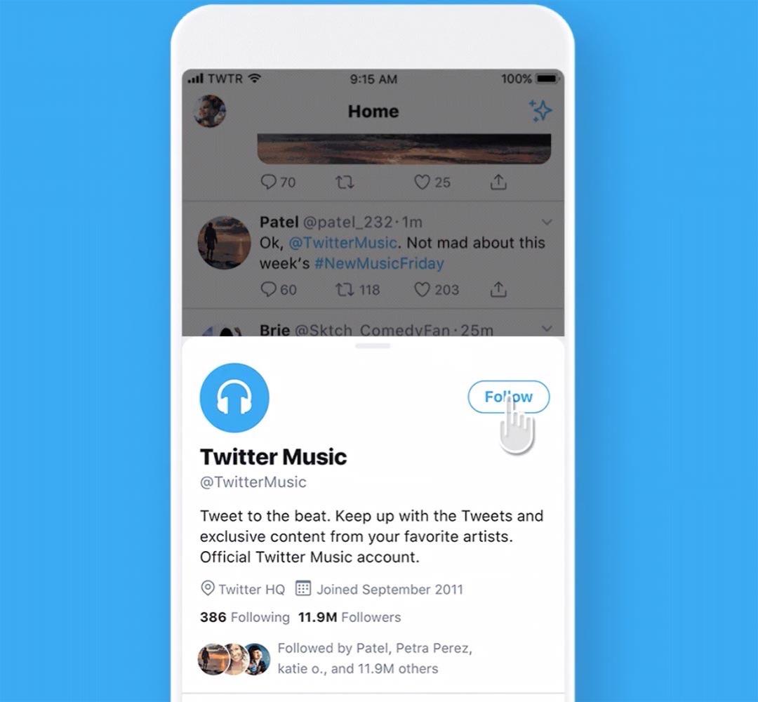 Twitter、iOS向け公式アプリでタイムラインを離れずにアカウントのプロフィールを確認できる機能をテスト中