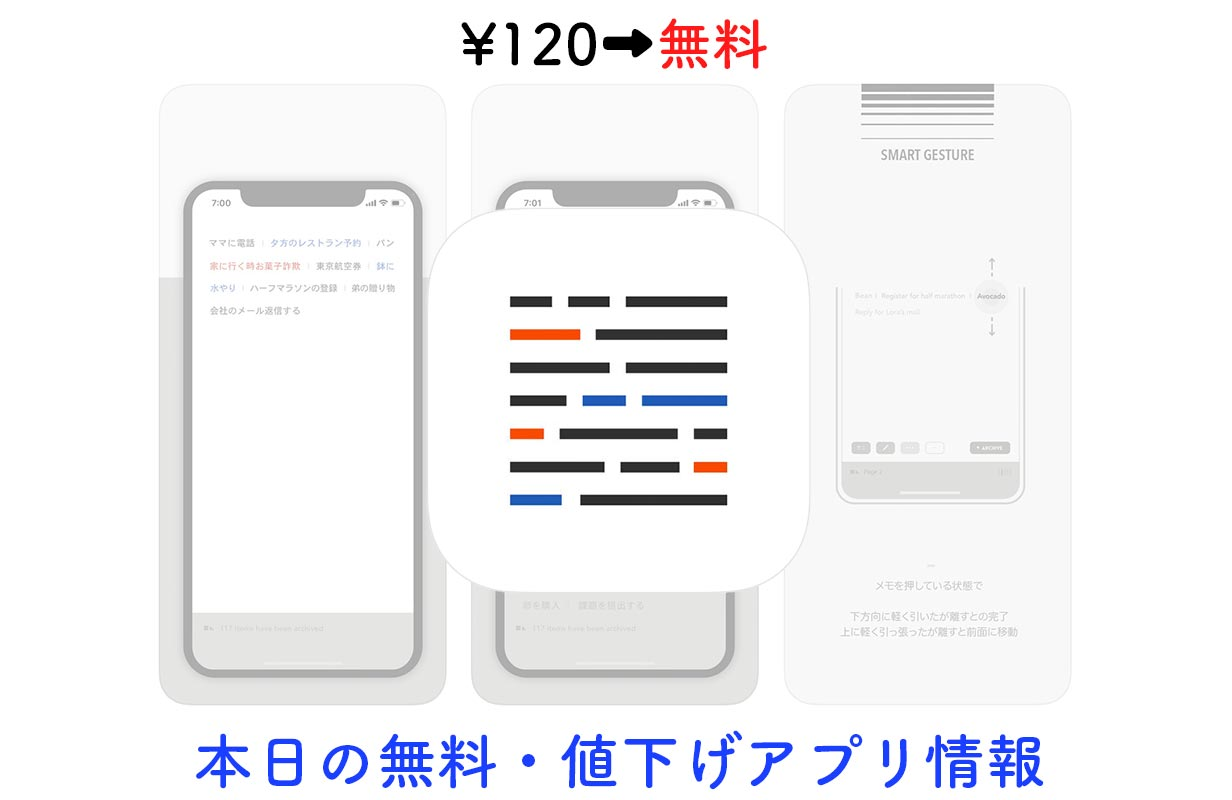 120円→無料、Todoリストとしても使えるシンプルなメモアプリ「Blink」など【4/16】セールアプリ情報