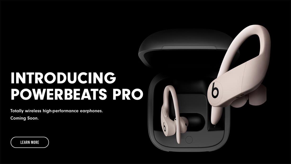 Beats、H1チップを搭載した完全ワイヤレスイヤホン「Powerbeats Pro」を発表