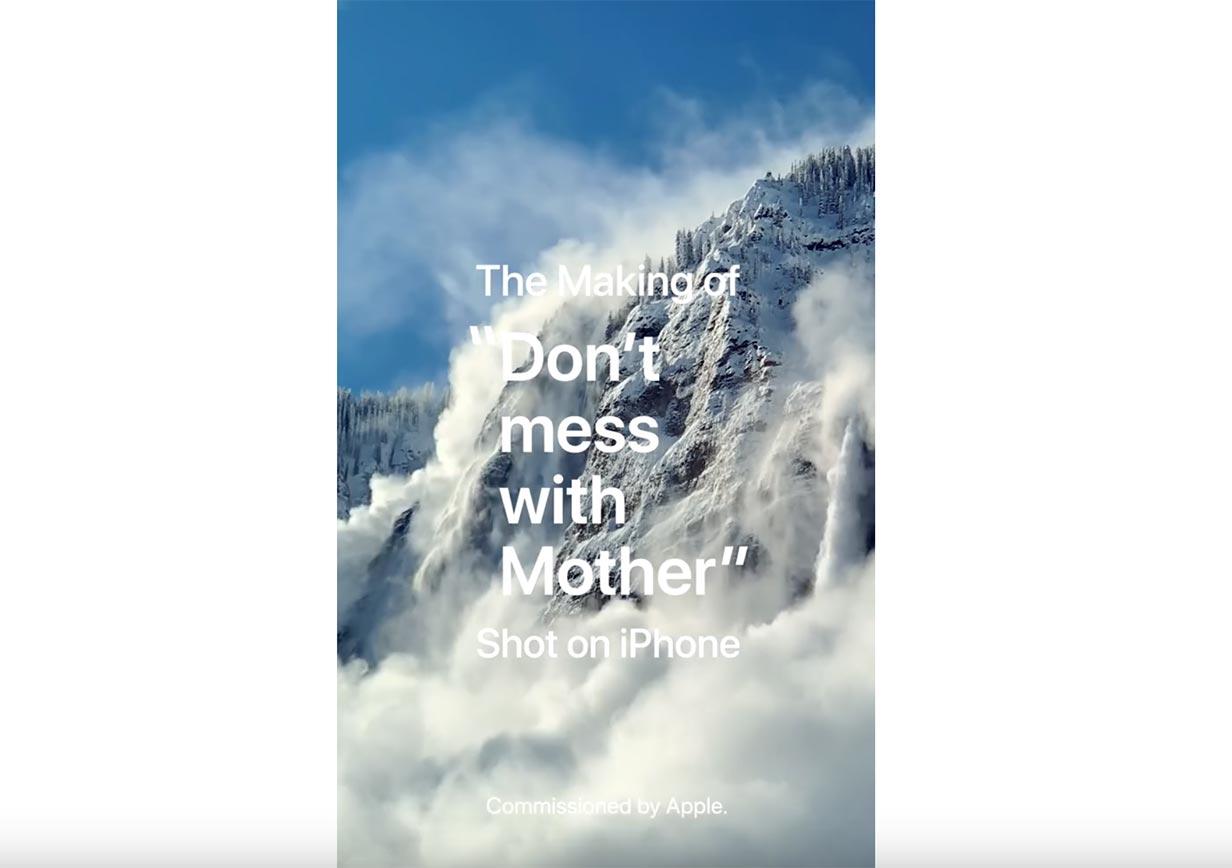 米Apple、「Shot on iPhone XS」シリーズの動画「Don't mess with Mother」のメイキング動画を公開