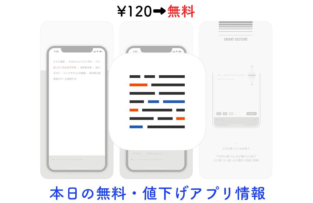 120円→無料、Todoリストとしても使えるシンプルなメモアプリ「Blink」など【3/29】セールアプリ情報