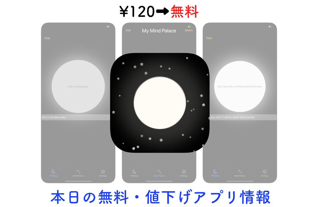 120円→無料、思いついたアイデアをすぐに書いて管理できる「Thought」など【6/19】セールアプリ情報