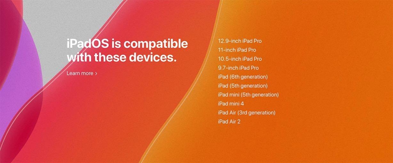 「iPadOS」は「iPad Air 2」以降に対応