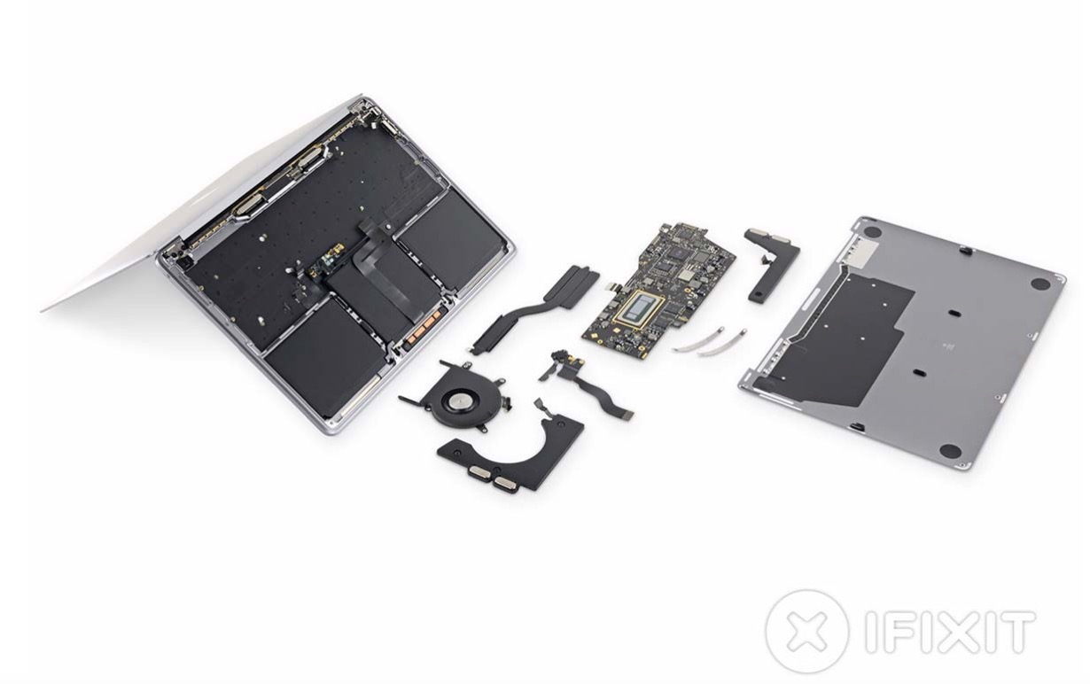 iFixit、新しい「13インチMacBook Pro」のエントリーモデルのバラシレポートを公開