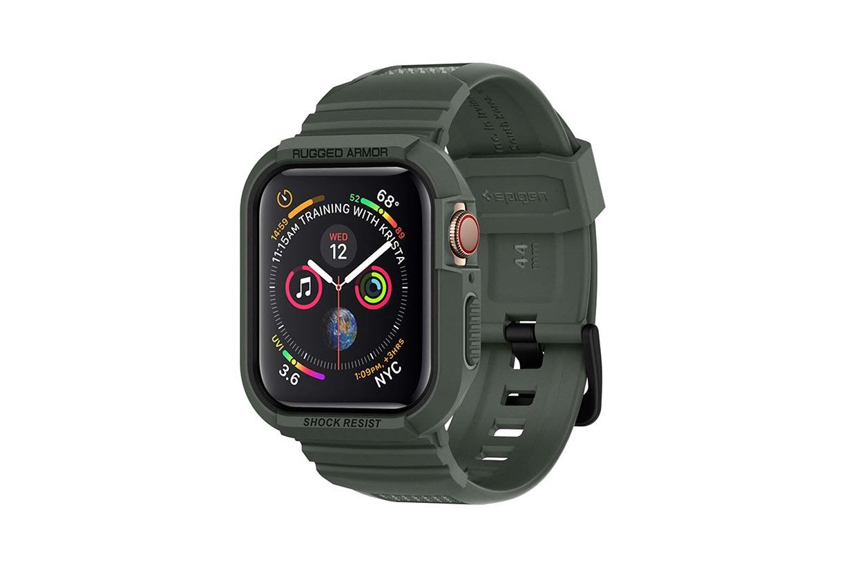 Spigen、Apple Watch用バンド一体型ケース「ラギッド・アーマー プロ」に新色ミニタリー・グリーンを発売