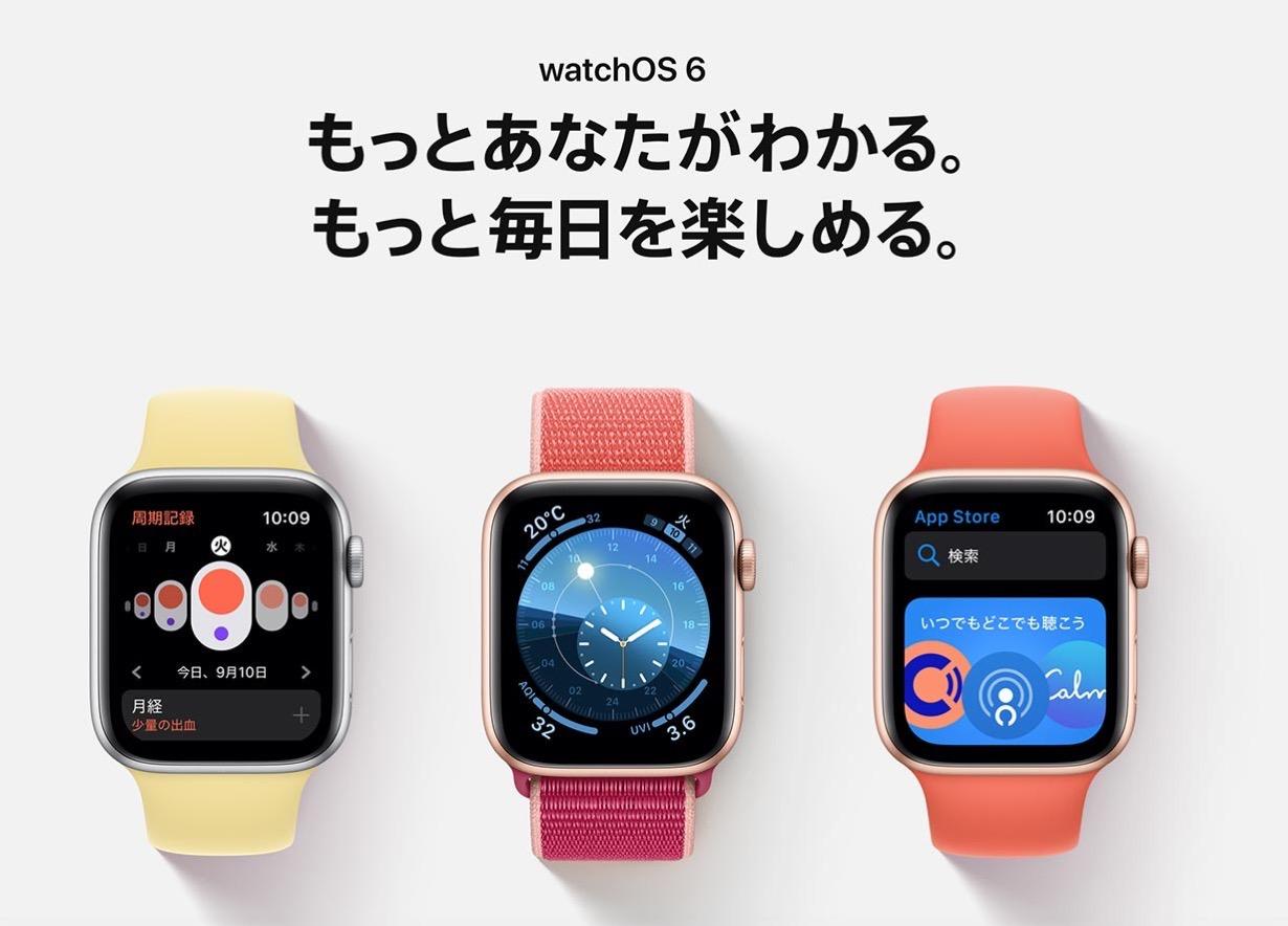 Apple、デベロッパー向けに「watchOS 6 GM」リリース