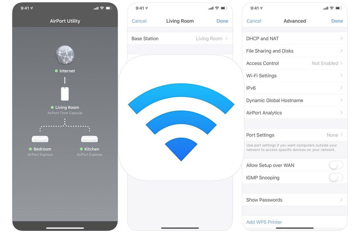 Apple、安定性とセキュリティの改善を含んだiOSアプリ「AirMacユーティリティ 1.3.6」リリース