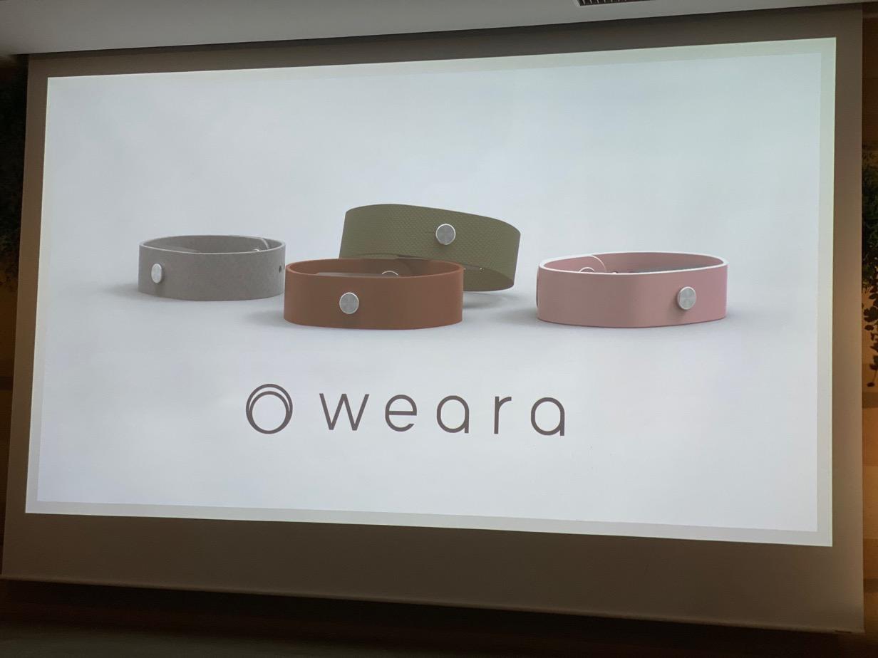 トリニティ、リストバンド型ウェアラブルデバイス「weara(ウェアラ)」を発表