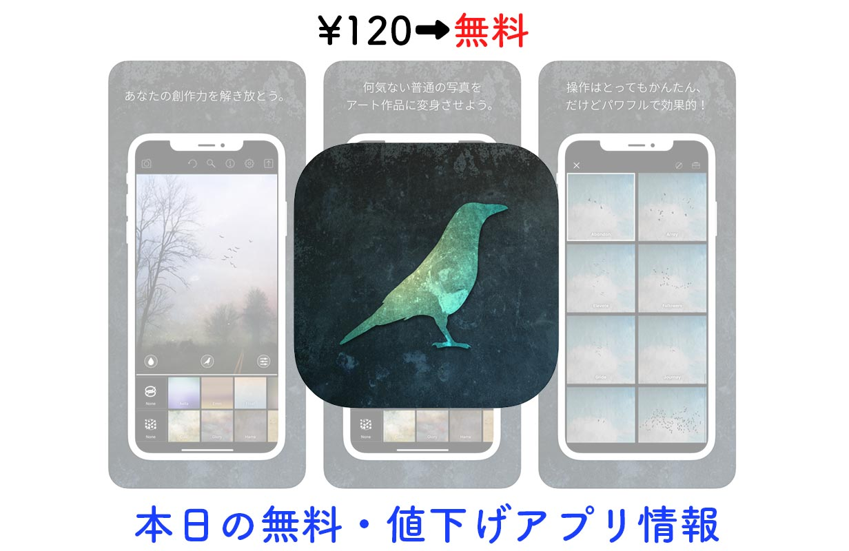 120円→無料、写真を絵画風にできる加工アプリ「Distressed FX」など【5/16】セールアプリ情報