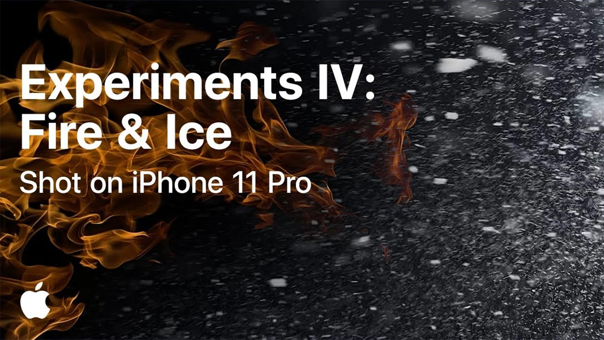 Apple、「iPhone 11 Pro」で撮影した実験動画シリーズ「Experiments IV: Fire & Ice」を公開