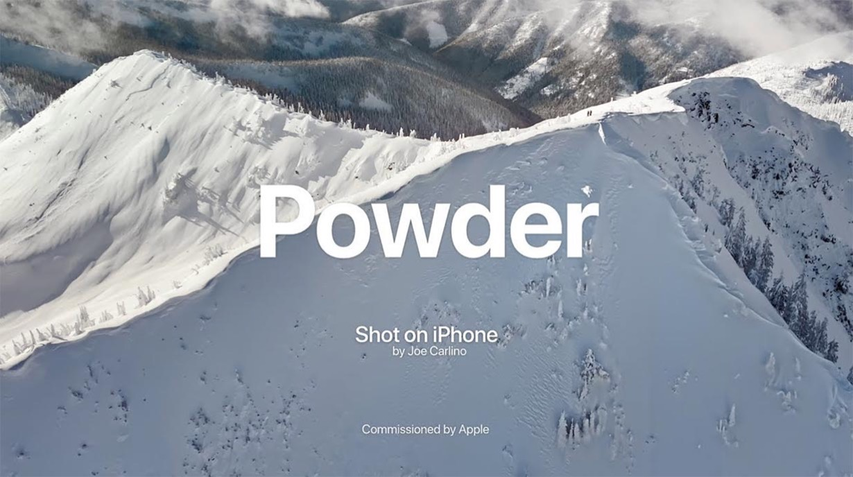 Apple、Shot on iPhoneシリーズの新作動画「Powder: Backcountry Snowboarding at Baldface Lodge」公開