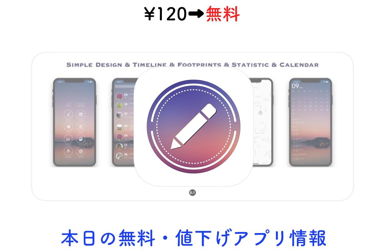 120円→無料、美しいインターフェイスの日記アプリ「u.Memory」など【7/15】セールアプリ情報