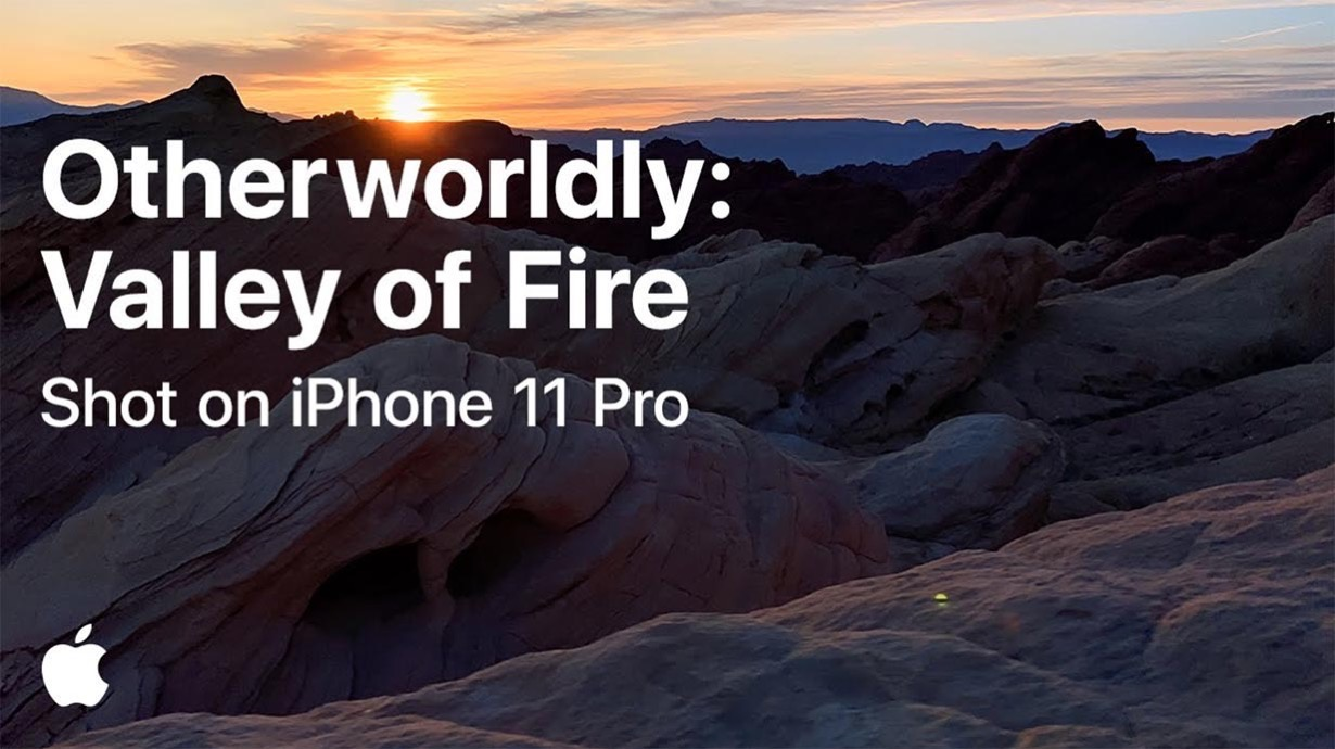 Apple、Shot on iPhoneシリーズの新作動画「A journey into the Valley of Fire」公開