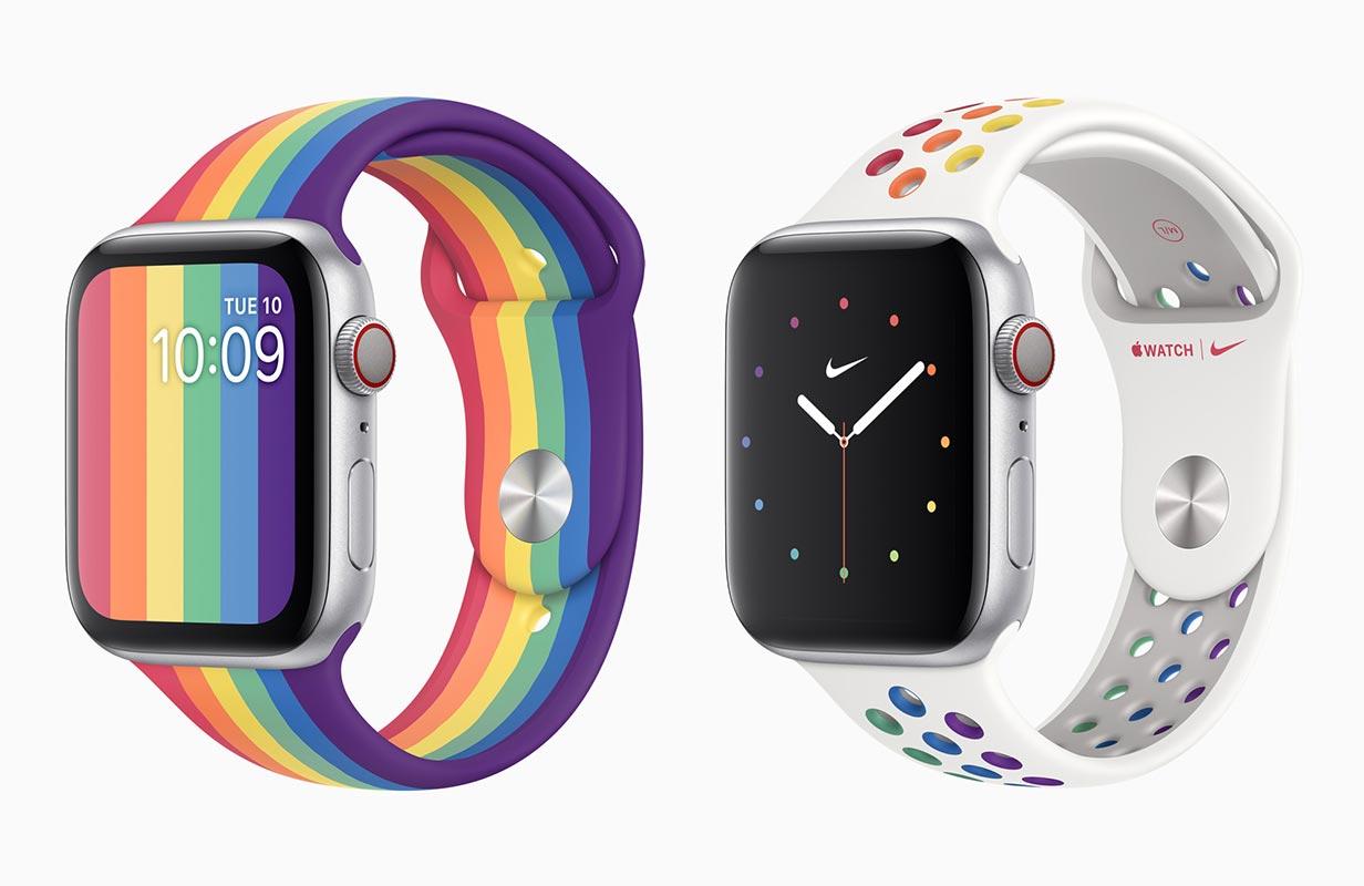 Apple、2種類の「Apple Watchプライドエディションバンド」を発表、watchOS 6.2.5で新しいプライド文字盤を追加へ