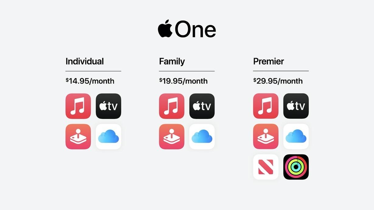 Apple、各種サブスクリプションサービスをまとめた「Apple One」を明日から提供開始へ