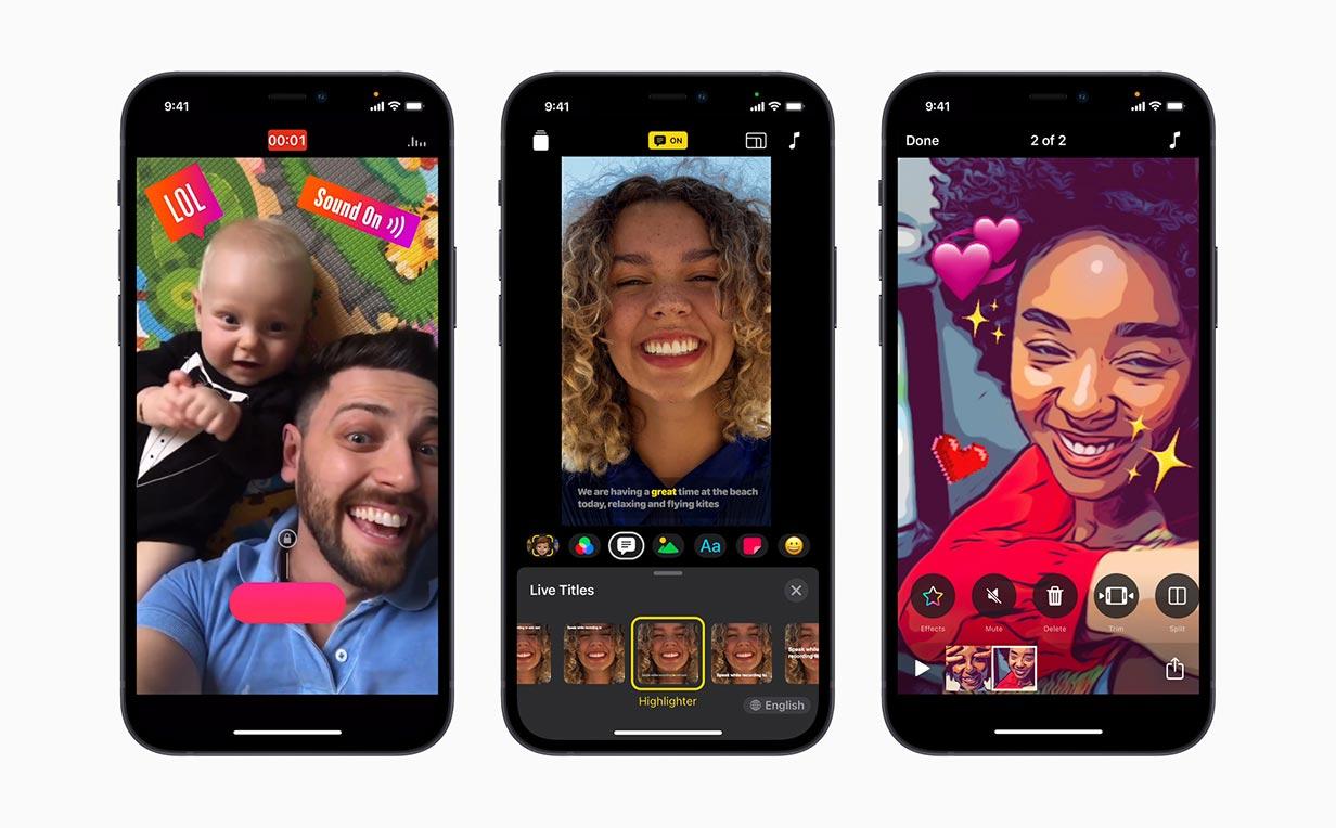 Apple、iPhone 12のHDRビデオ録画や新しいUIを採用するなどしたiOSアプリ「Clips 3.0」リリース