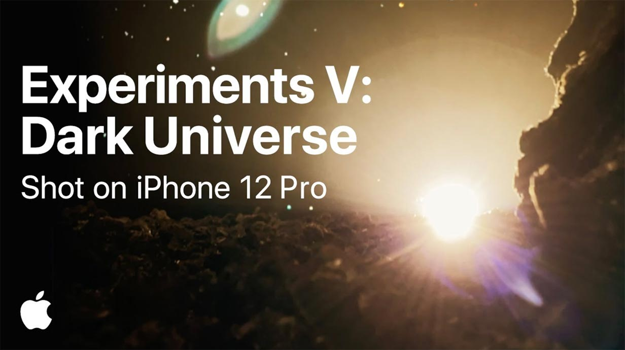 Apple、「iPhone 12 Pro」で撮影された動画「Experiments V: Dark Universe」を公開