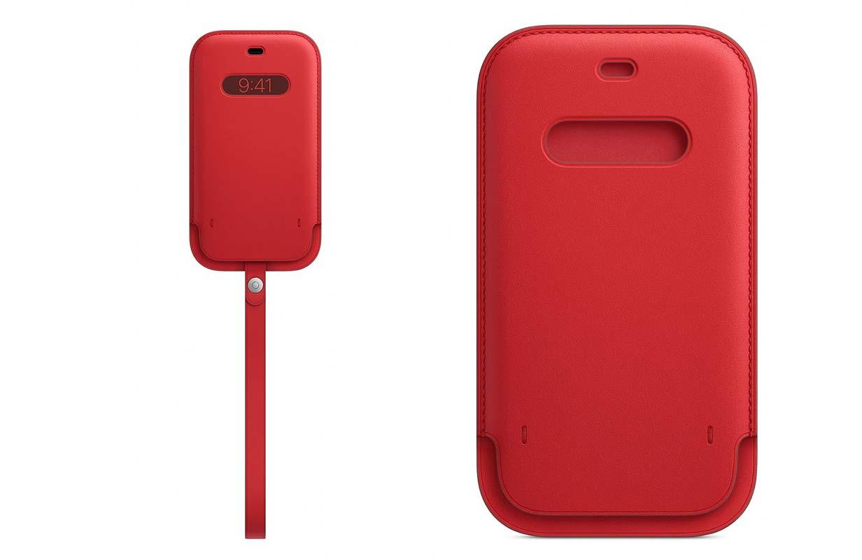 Apple、MagSafe対応iPhone 12シリーズ向けレザースリーブの販売を開始