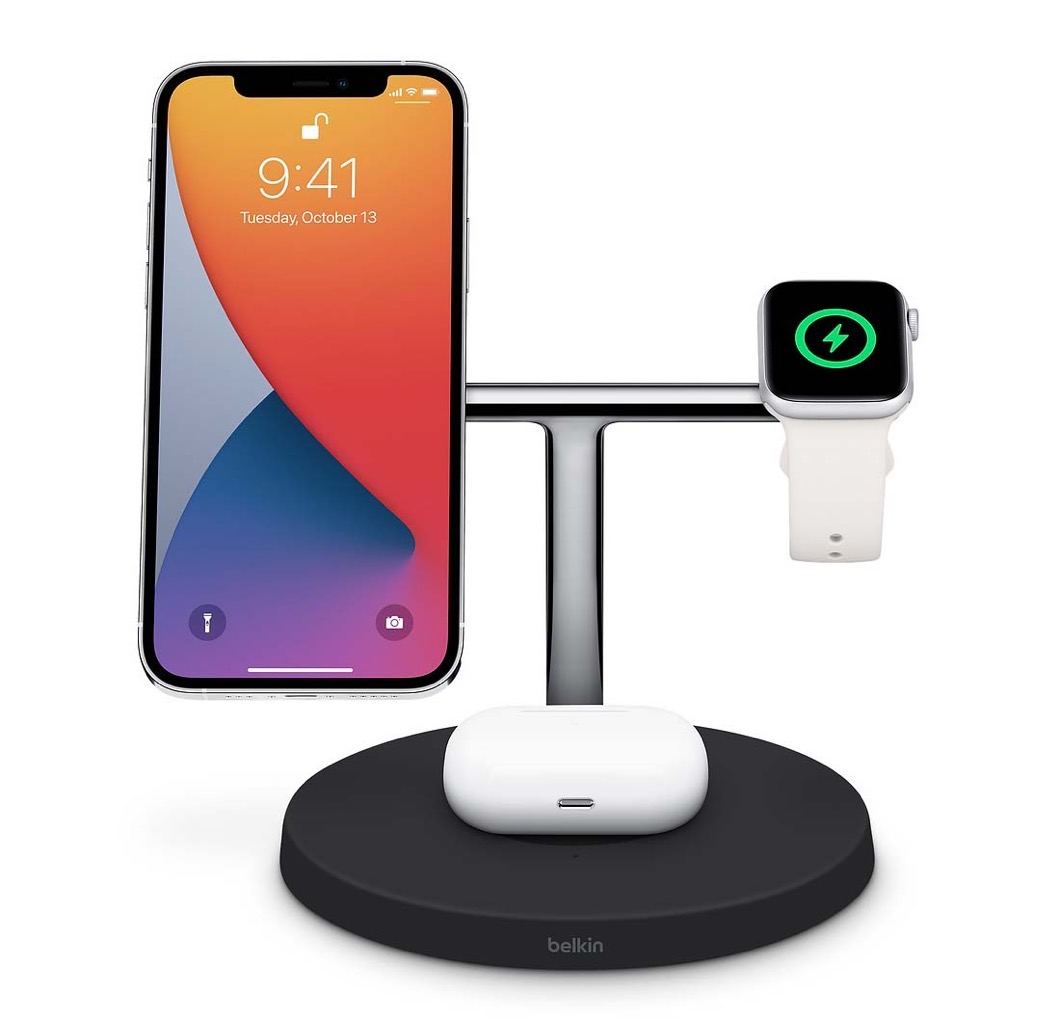 Apple Store、「Belkin BOOST↑CHARGE PRO 3-in-1 Wireless Charger with MagSafe」の販売を開始