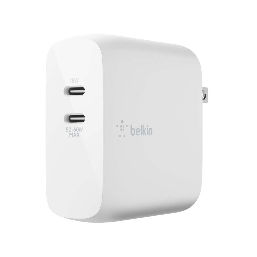 ベルキン、最大68Wで2台同時充電できる「BOOST↑CHARGE PRO 68W USB-C PD GaN USB充電器(18W USB-C+50-60W USB-C)」を3月12日から発売