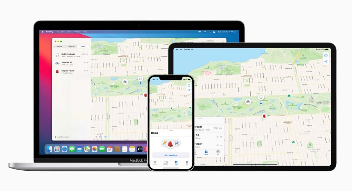 Apple、「探す」アプリをアップデート、 新たにサードパーティ製品も見つけることが可能に