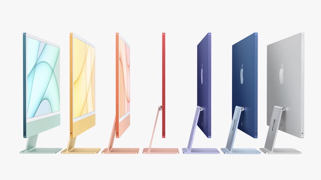 Apple、M1チップを搭載した24インチ「iMac」を発表
