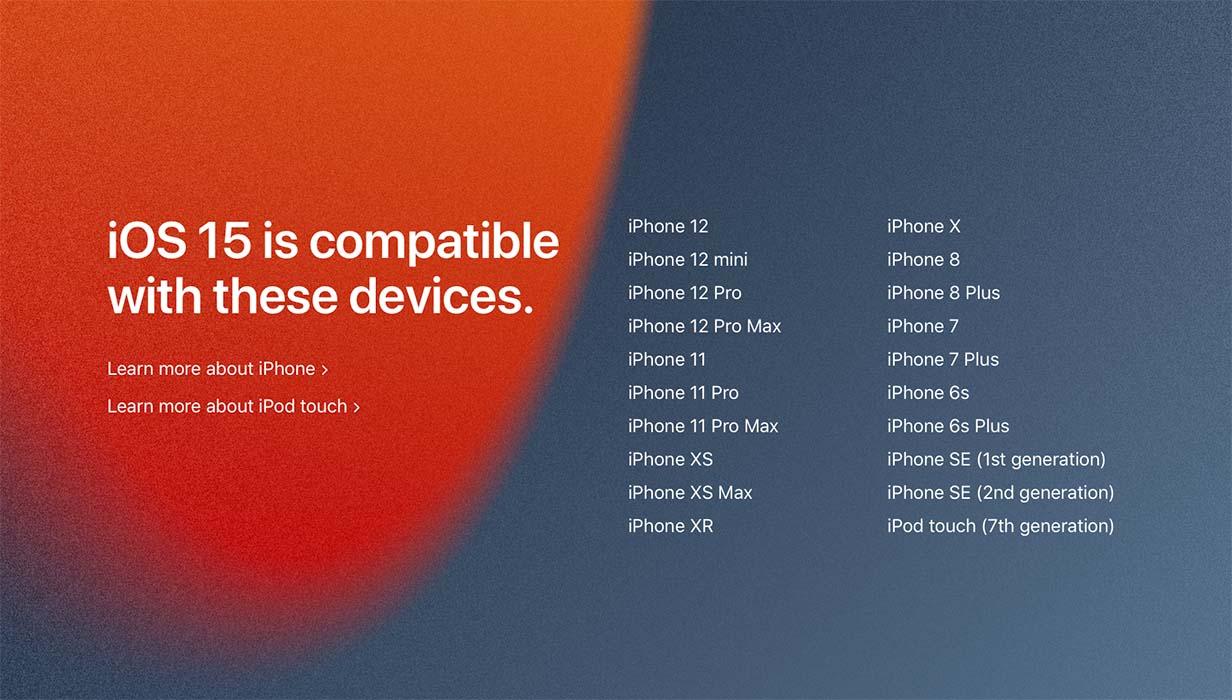 Apple、「iOS 15」「iPadOS 15」「macOS Monterey」などの対応機種を発表